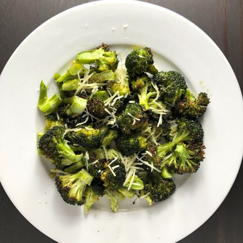 Roasted Broccoli With Shredded Parmesan