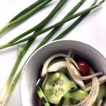 Thai Cucumber Salad with green onions