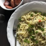 Polish Kluski Noodes and Polish Kielbasa
