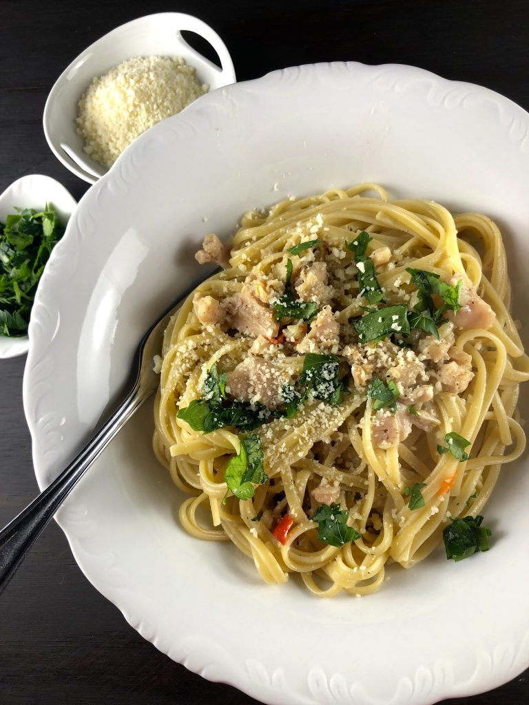 Linguine With Clam Sauce, Parsley, and Parmesan