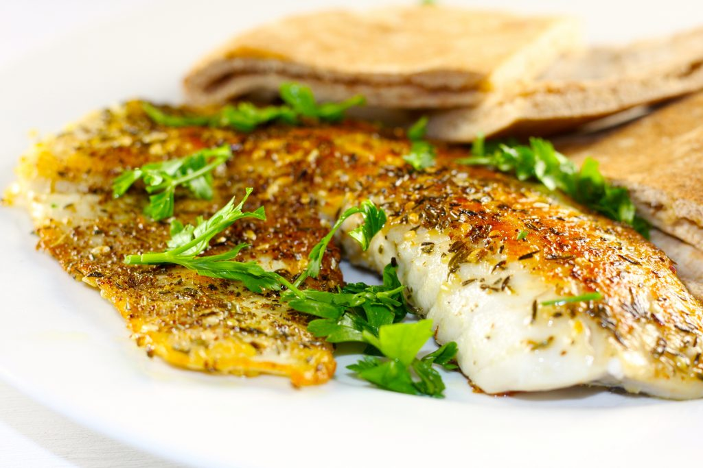 Tilapia With Za'atar and Pita Bread
