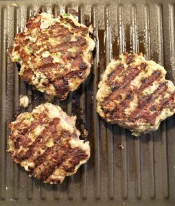 Frying Greek Lamb Burgers