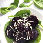 Roasted Beet and Spinach Salad