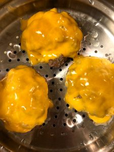 Connecticut Steamed Cheeseburgers in a Steamer