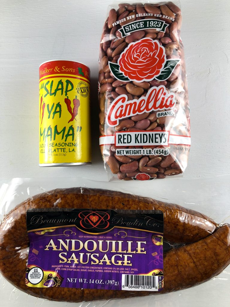 Camellia Red Kidney Beans Slap Ya Mama Andouille Sausage