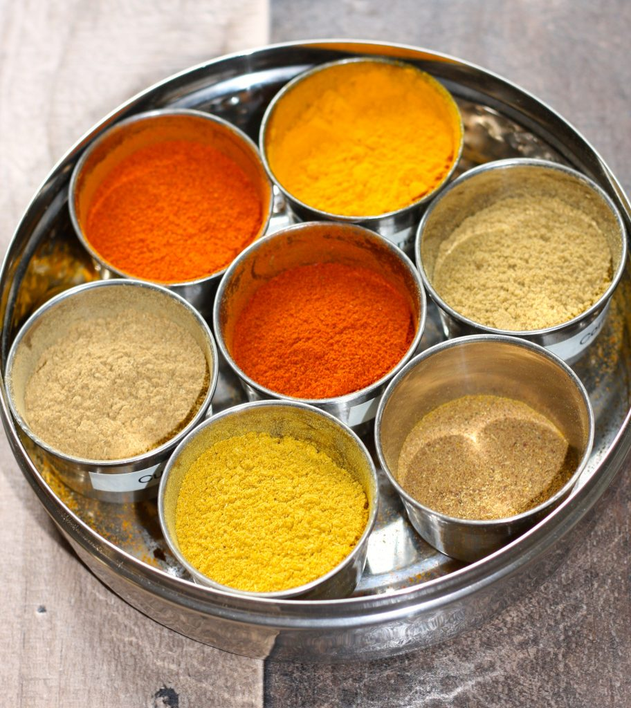 Masala box with spices