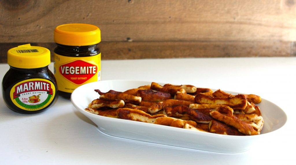 Vegemite and Marmite With Home Made Twiglets