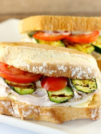 Turkey Sandwich With Grilled Zucchini