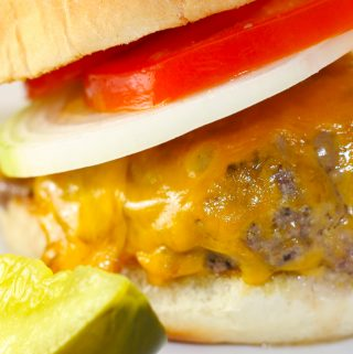 Connecticut Steamed Cheeseburger and Pickle