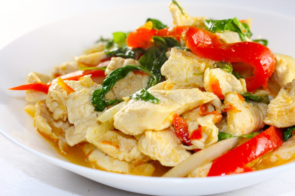 Spicy Thai Chicken With Basil
