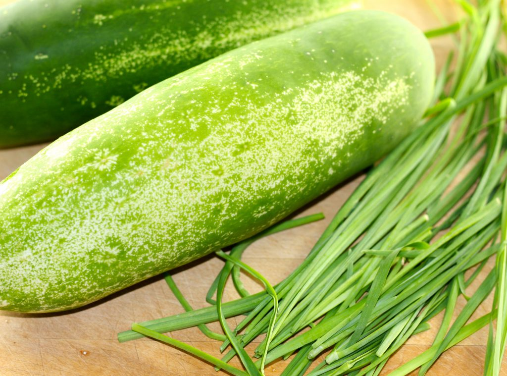 Cucumbers and chives