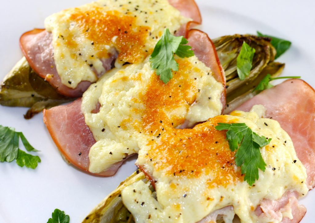Endives With Ham and Mornay Sauce