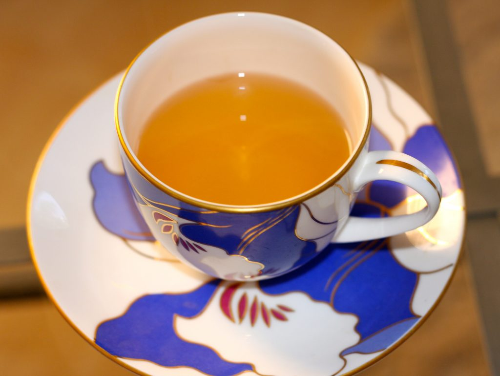 Darjeeling Tea in a cup on a plate