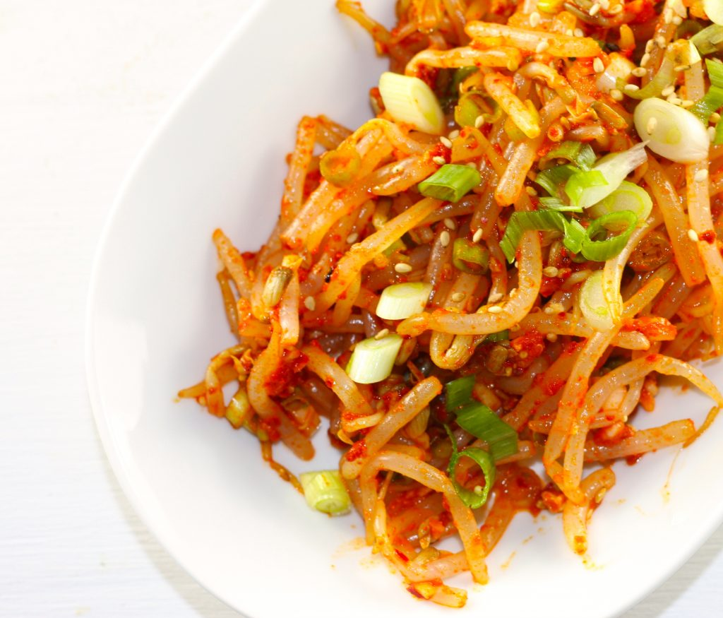Korean Spicy Bean Sprouts