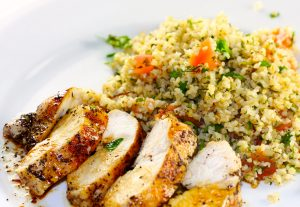 Tabouleh and chicken
