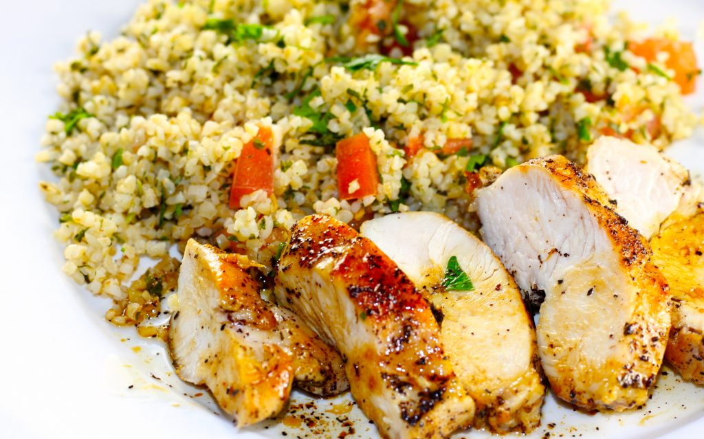 Tabbouleh and Chicken