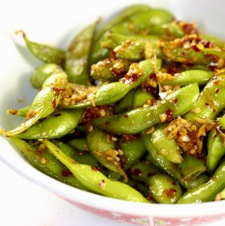 Spicy Edamame in a bowl