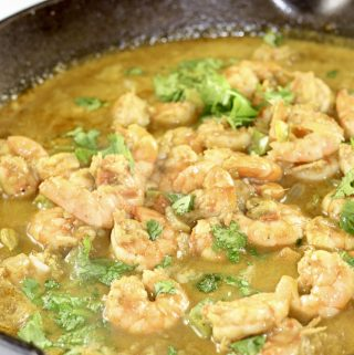 Coconut Curry Shrimp in a pan