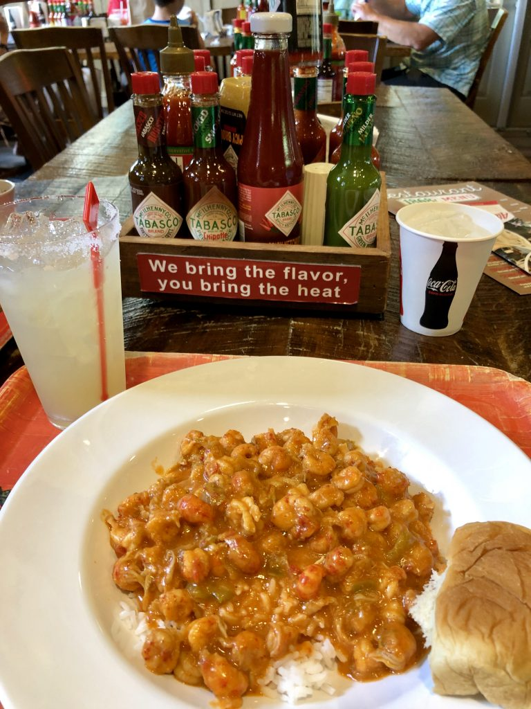 Crawfish Etouffee and Tabasco Sauces