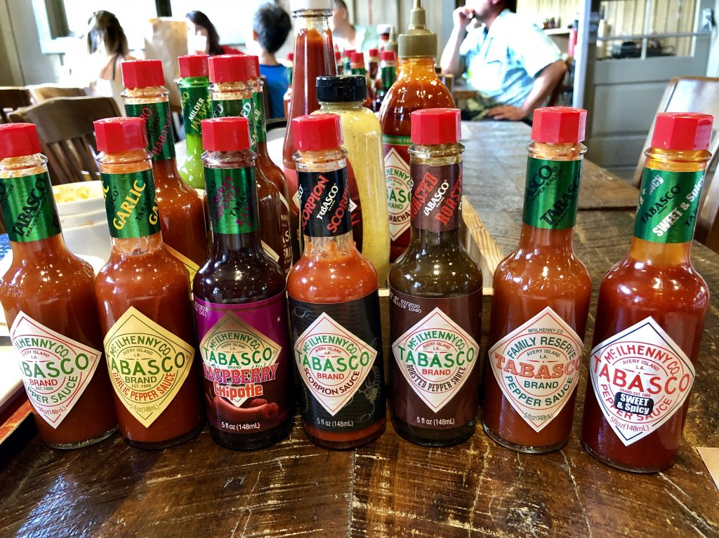 Variety of Tabasco Sauces