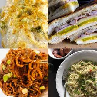 catfish, cubanos, ram-don, and polish kluski noodles with Sauerkraut