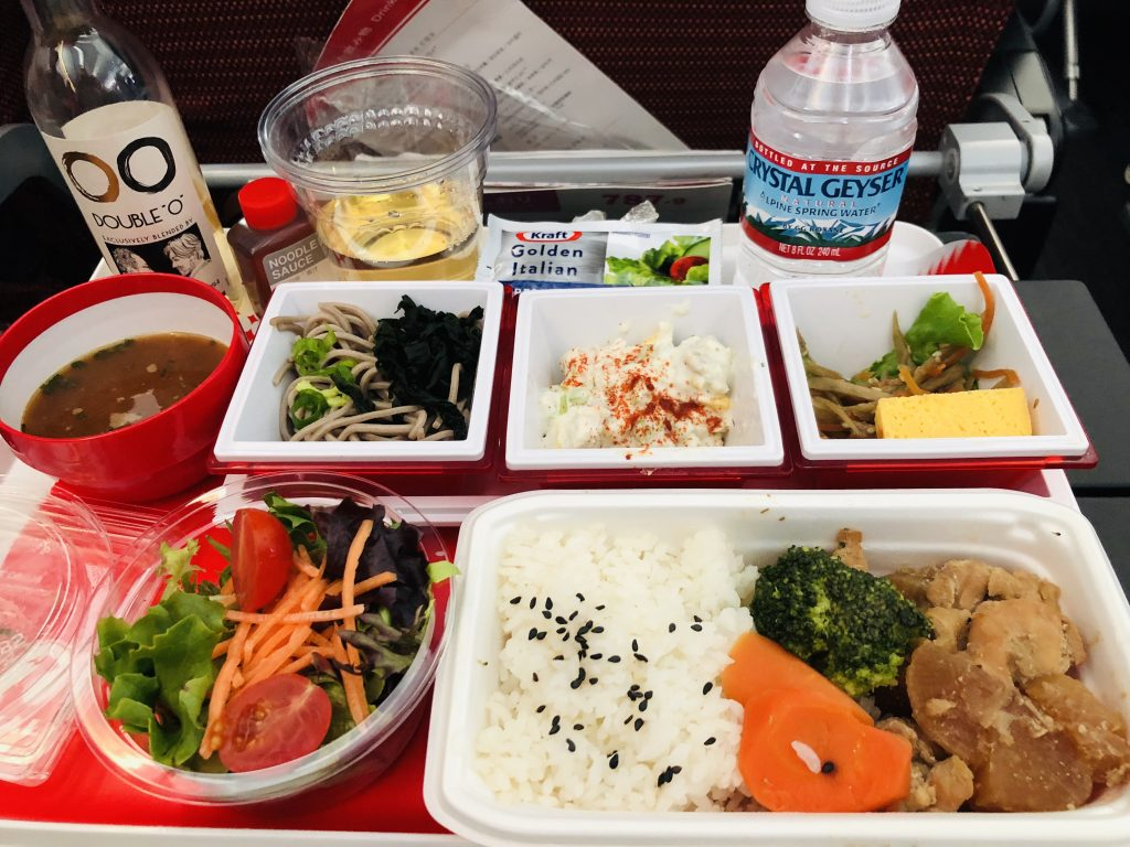 Lunch on Japan Airlines Flight