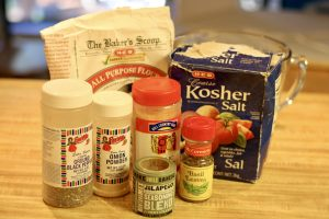 various seasonings and all purpose flour