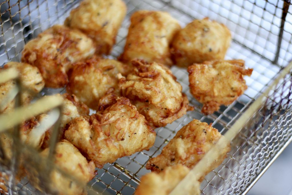 Tater Tots in a frying basket