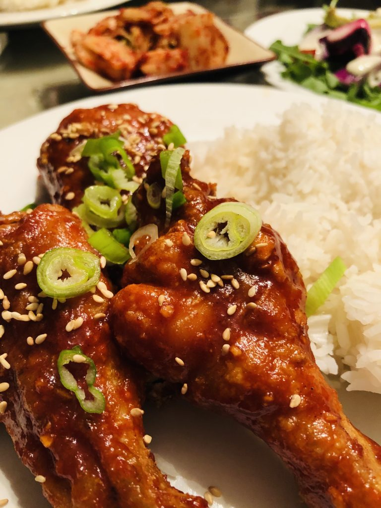 Korean Baked Chicken served with rice