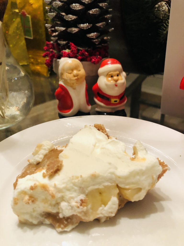 Banoffee Pie with mr and mrs klaus
