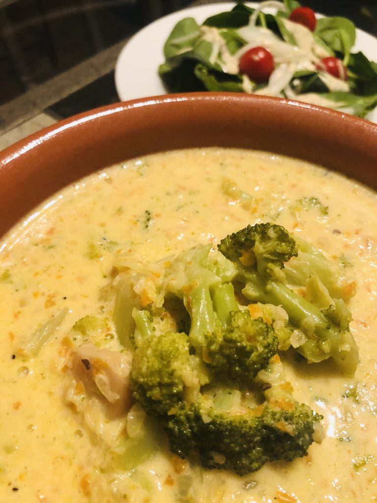 Spicy Broccoli and Cheddar Soup