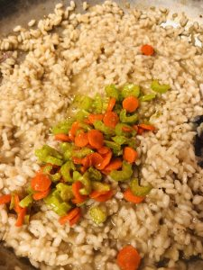 Risotto, carrot and celery