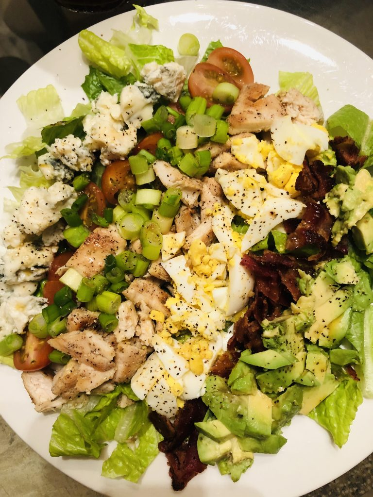Cobb Salad on a white plate