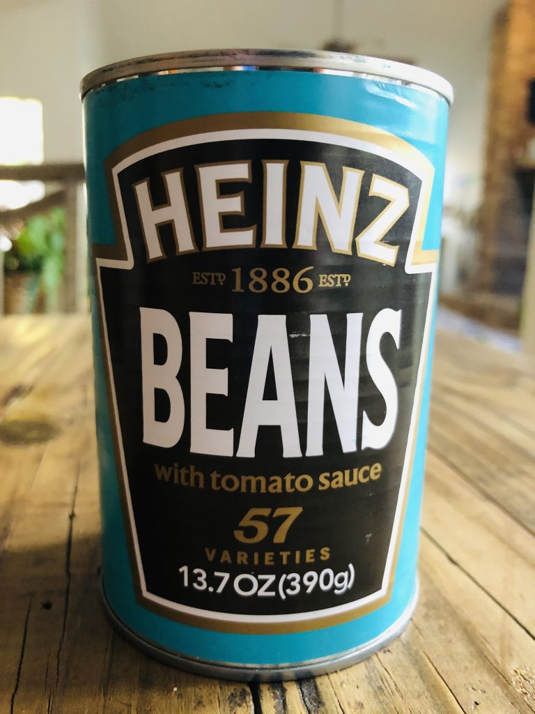 A can of Heinz beans in tomato sauce