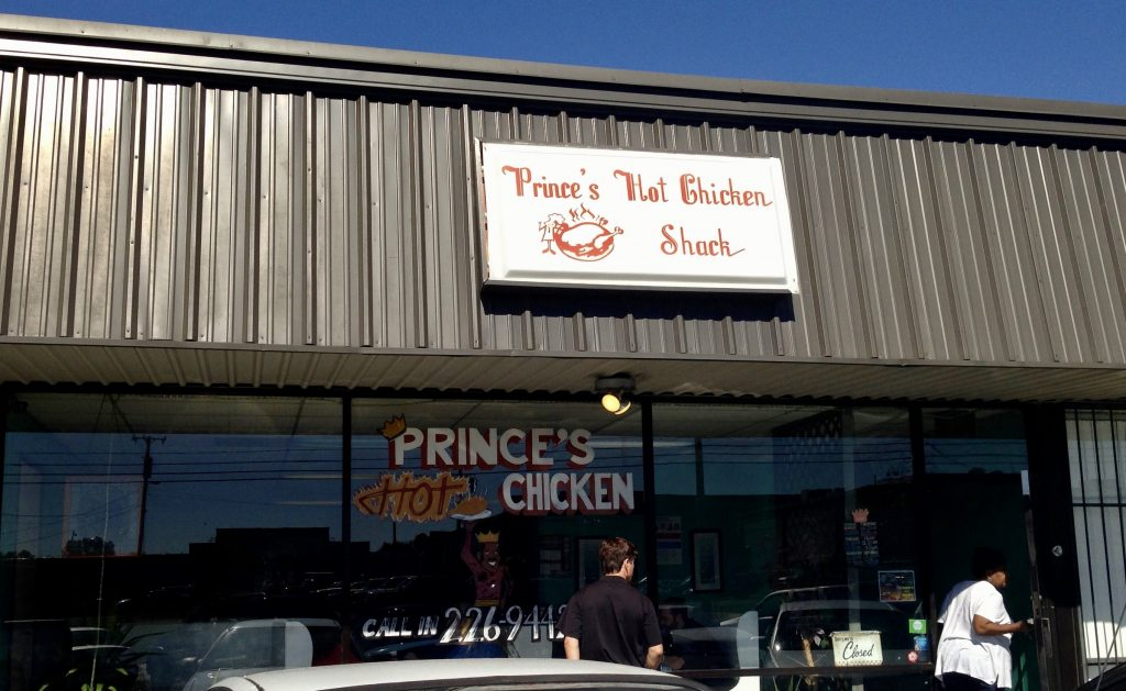 Exterior of Prince's Hot Chicken Shack