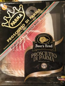 package of prosciutto