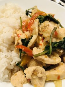 Chicken With Thai Basil and Rice