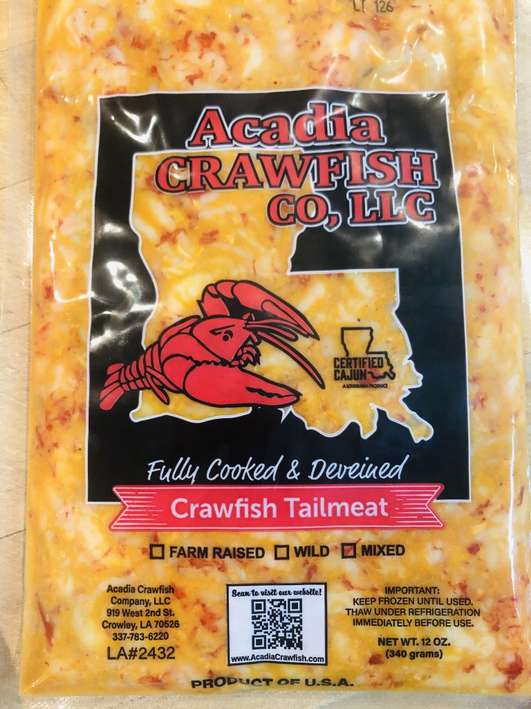 Acadia Crawfish Company Package of Cooked Crawfish